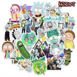 50pcs Pack Waterproof Cartoon <font><b>Rick</b></font> <font