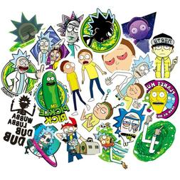 50PCS Rick and Morty Stickers Decal for Laptop Luggage Fridg