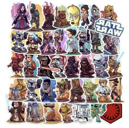 50Pcs Star Wars Vinyl Stickers Decal Graffiti Laptop Skatebo