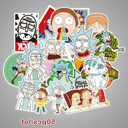 50Pcs Vinyl Funny Anime Sticker Pack Skateboard Laptop Lugga