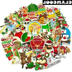 50Pcs Winter Christmas Santa Claus Reindeer <font><b>Gold</b