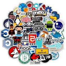 50x Developer Programming Sticker Java Php Linux Bitcoin Ubu