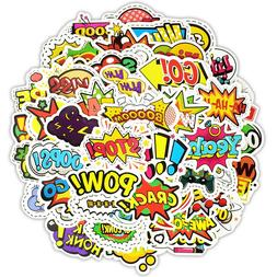 50x Random Skateboard Stickers Bomb Vinyl Laptop Luggage Dec
