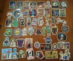 51 Rick And Morty Stickers Lot Laptop Truck Car Gamer NEW