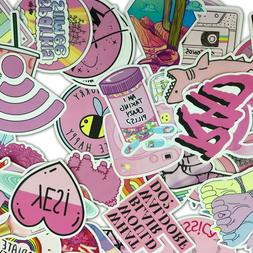 53 PCS Cute Pink girl Lot Skateboard Stickers Vinyl Laptop L