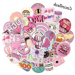 53PCS/lot Cartoon <font><b>Pink</b></font> INS Style Vsco Gi