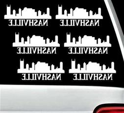 6-PACK F1064 Nashville Skyline 6-INCH Decal Sticker Country