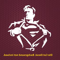 """6"""" up to 23"""" Superman Silhouette  Premium Decal Sticker Car"""