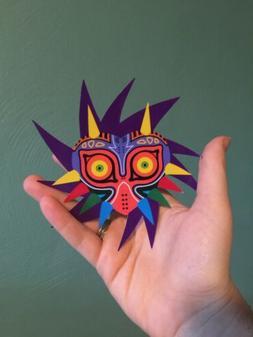 "5"" Zelda Skull Kid Epic Vibrant Colored Sticker Bumper Lap"