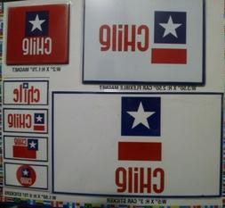 7 CHILE DECALS CAR BUMPER STICKERS MAGNET FLAG LAPTOP 5X3 3.