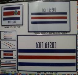 7 COSTA RICA DECALS CAR BUMPER STICKERS MAGNET FLAG LAPTOP 5