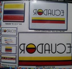 7 ECUADOR DECALS CAR BUMPER STICKERS MAGNET FLAG LAPTOP 5X3