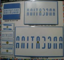 7 ARGENTINA DECALS CAR BUMPER STICKERS MAGNET FLAG LAPTOP 5X