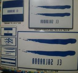 7 EL SALVADOR DECALS CAR BUMPER STICKER MAGNET FLAG LAPTOP 5