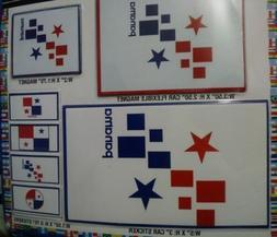 7 PANAMA DECALS CAR BUMPER STICKERS MAGNET FLAG LAPTOP 5X3 3