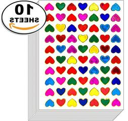 Jazzstick 700 Small Heart Stickers Glitter Red Pink Yellow G