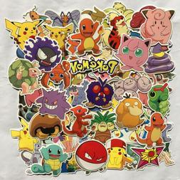 80pc POKEMON GO Pikachu Cartoon Stickers Skateboard Laptop S