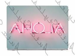 Aloha Neon Sign Light Modern Laptop Skin Vinyl Decal Sticker