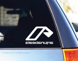 Anjunabeats White Vinyl Decal Sticker EDM Dance Car Laptop E