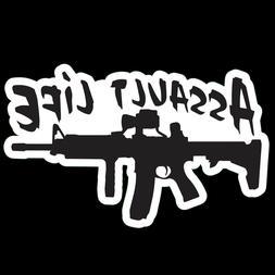 Assault Life 2nd amendment  Sticker Decal Laptop Art Caution