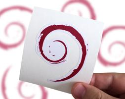 Debian Sticker, Debian Laptop Sticker, Debian Car Sticker, L