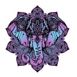 Elephant Mandala boho colorful Sticker Decal Laptop Art viny