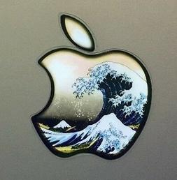 GLOWING HOKUSAI GREAT WAVE Apple MacBook Pro Air Sticker Lap