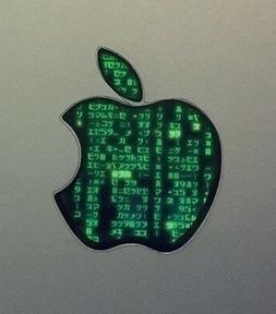 GLOWING MATRIX Apple MacBook Pro Air Sticker Laptop DECAL Lo