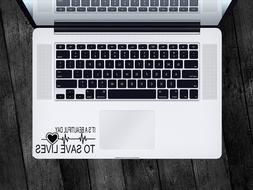 Grey's Anatomy Sticker Save Lives Decal Apple MacBook Mac iP