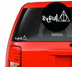 Harry Potter Always Deathly Hallows Vinyl Decal Sticker for