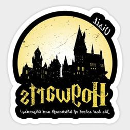 Harry Potter Visit Hogwarts Wizards Vinyl Decal Decor Wall B