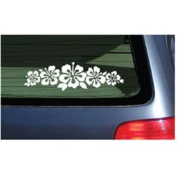 Hibiscus Band Vinyl Sticker - White Garland Decal Flower Lei