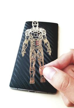 Iron Man Gold Metal Decals Stickers for Cell-phone Camera No