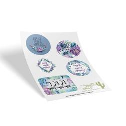 Kappa Kappa Gamma Sorority Purple Floral Sticker Sheet Decal