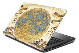 "Multi Map Laptop Sticker Cover Skin Protector Fits 14.1"" To"