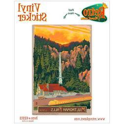 Multnomah Falls Lodge Oregon Vinyl Sticker Travel Laptop Car