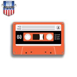 Orange Cassette Sticker Decal Phone laptop Car Window art 20