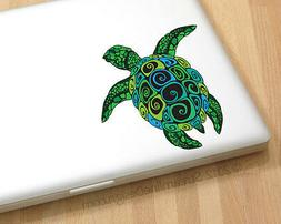 Sea Turtle Vinyl Laptop or Automotive Art sticker decal comp