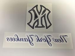 Set Of 2 MLB New York Yankees Vinyl Bumper Sticker Decal Car