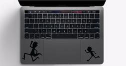 Set of Rick & Morty Running Macbook Trackpad Laptop Vinyl St