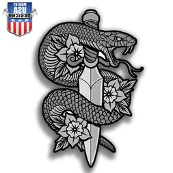 Snake sword flowers misc Sticker Decal Laptop Car Window Art