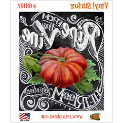 Tomato Ripe Vine Chalk Art Vinyl Sticker Vintage Style Lapto