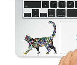 Multi-colored Abstract Diversity Cat Trackpad Decal Laptop M