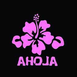 Aloha Hibiscus Flower Vinyl Decal Sticker | Cars Trucks Vans