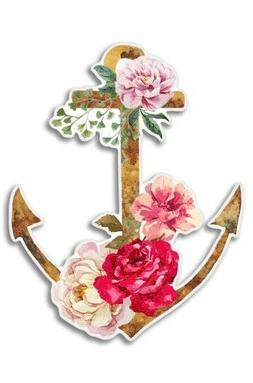 Anchor Flowers Nautical Watercolor Car Laptop Phone Vinyl St