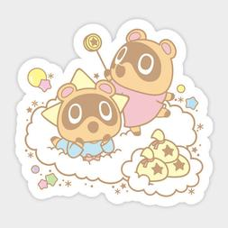 Animal Crossing Nooklings and Little Twin Stars Vinyl Decal