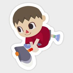 Animal Crossing Villager Mayor Chopping Vinyl Decal Sticker