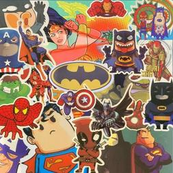 Assorted Superhero Stickers (for skateboard, laptop, water b