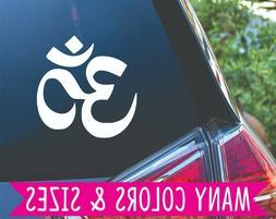 Aum Om Namaste Yoga Car Laptop Tumbler Phone Vinyl Decal Sti