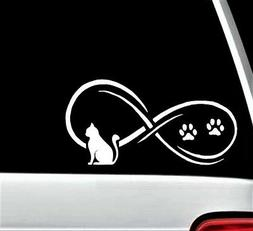 B1102 Cat Infinity Decal Sticker for Car Truck SUV Van Lapto